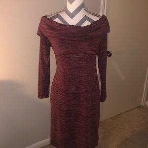 Allison Brittany off shoulder sweater  Dress